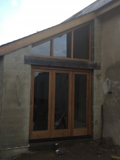 Oak 3 Door Bi-Fold Set with Screen