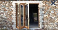 Oak bi-fold 3 door set and frame