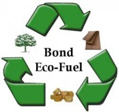 Bond Eco-Fuel wooden sawdust briquettes fuel