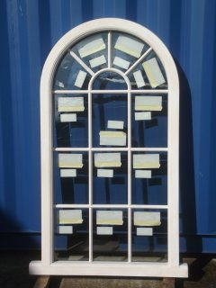 painted softwood semi-circular curved arched window