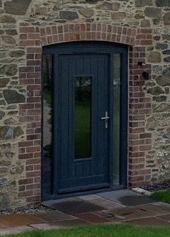 Sapele TGV Door with Sidelights, finished with Sadolin Superdec