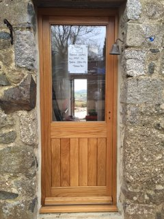 Oak TG&V Half Glazed External Door