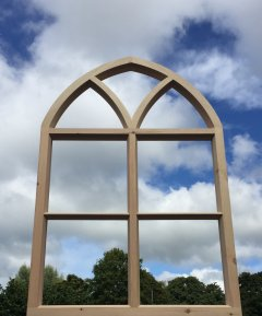 softwood arched Gothic window