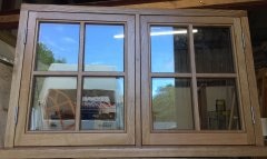 Traditional Oak casement window stick on glazing beads