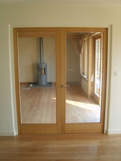 internal oak french door set