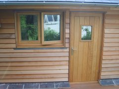 Oak TG&V External Door and Frame