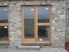 Oak Fully Glazed Door with Opening Window