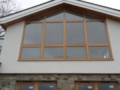 traditional wooden oak flush casement windows