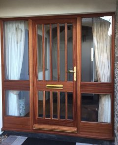 sapele door sidelights