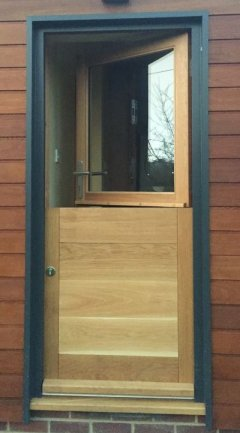 half glazed oak stable door