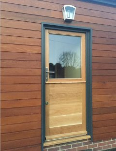 external half glazed oak stable door