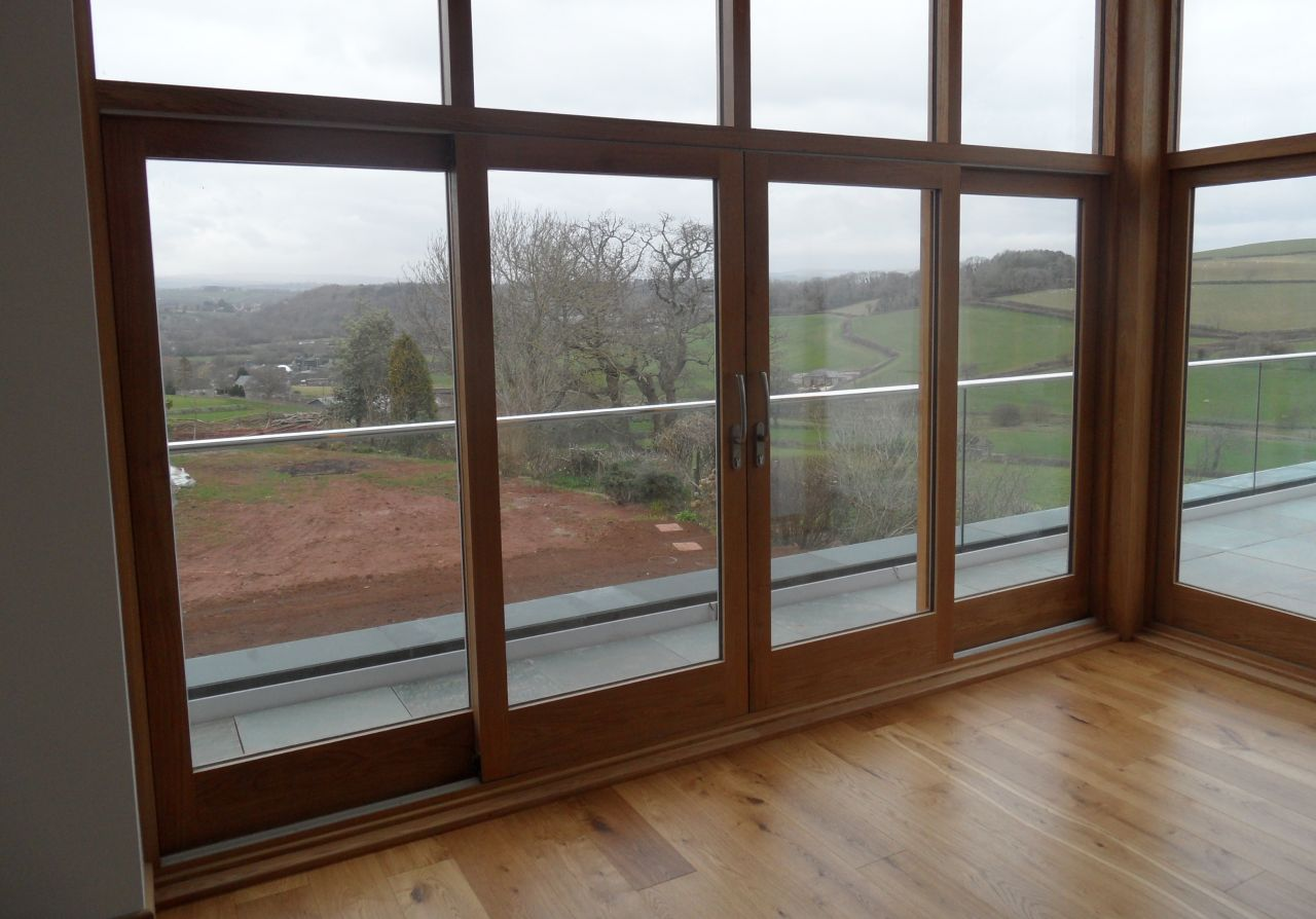 Bond joinery totnes devon hardwood softwood wooden sliding for Door u value calculator